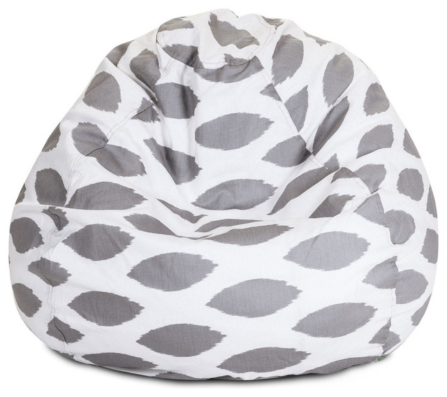 Indoor Storm Gray Alli Small Bean Bag Contemporary Chairs