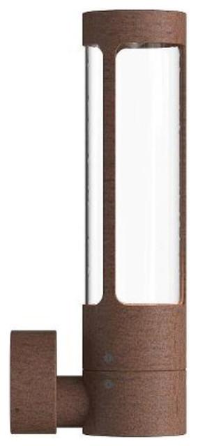 Helix Outdoor Wall Light, Corten Steel