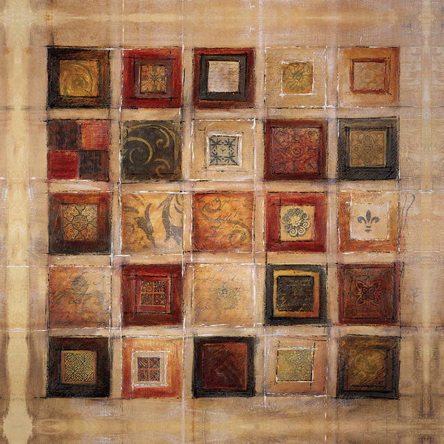 "Traditional Wall Art multi-square traditional"" canvas wall art, 36""x36"" - traditional"