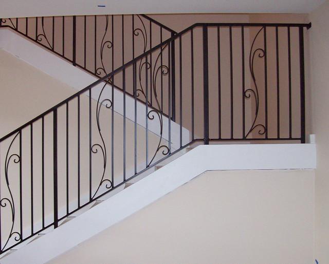 Spring Flower Design Wrought Iron Stair Rail