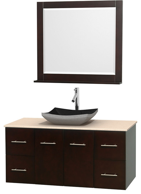 """... Sink, and 36"""" Mirror contemporary-bathroom-vanities-and-sink-consoles"""