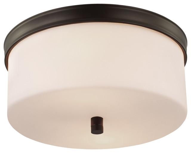 Feiss Bristol 2 Light Vanity Fixture In Oil Rubbed Bronze: Feiss Lismore 2 Lights Flushmount