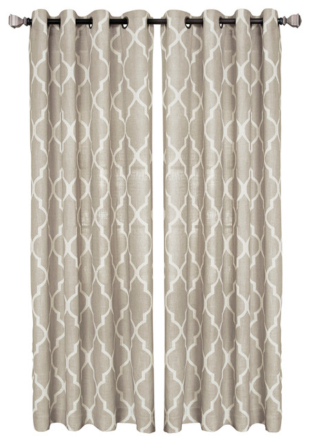 "Medalia Single Window Curtain, Linen, 52""x84."