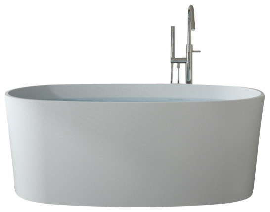 Badeloft upc certified stone resin freestanding bathtub for Freestanding stone resin bathtubs
