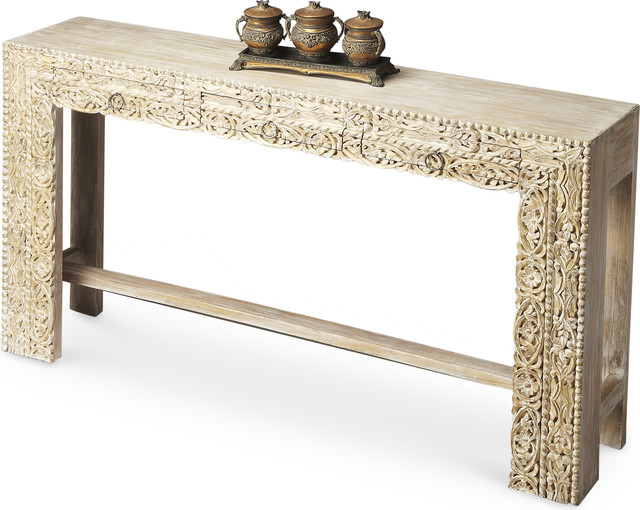 Console Table - Whitewashed.