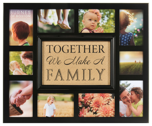 together we make a family collage frame modern mixed media art
