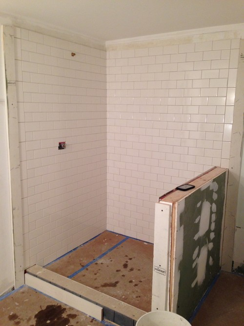 Tiling Wall Uneven Ceiling Subway Tile And Uneven Ceiling