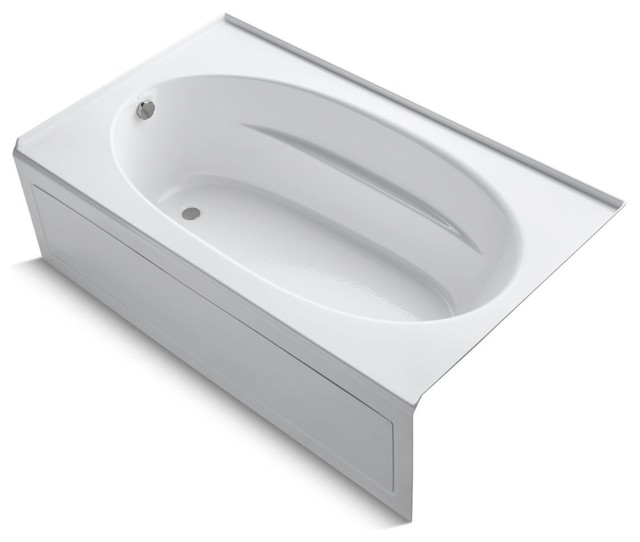 "Windward Alcove Bath Tub With Integral Apron And Left-Hand Drain, 72""x42"", White."