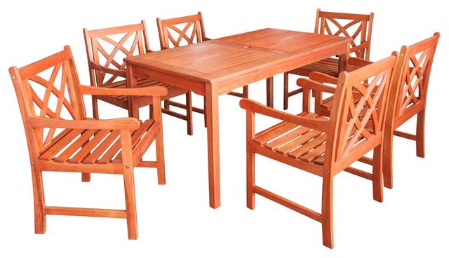 Outdoor Eucalyptus Rectangular Table