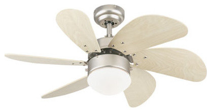 Westinghouse Turbo Indoor Ceiling Fan, Brushed Aluminum.