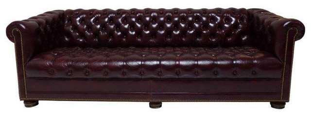 Chesterfield Leather Sofa By Hancock Moore 6 500 Est Retail