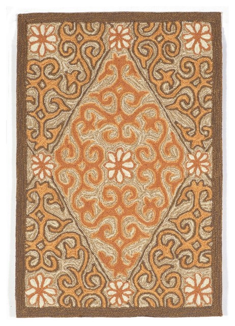 Trans Ocean Ravella Lakai Diamond 1943 17 Outdoor Rug C Contemporary Rugs By Arearugs