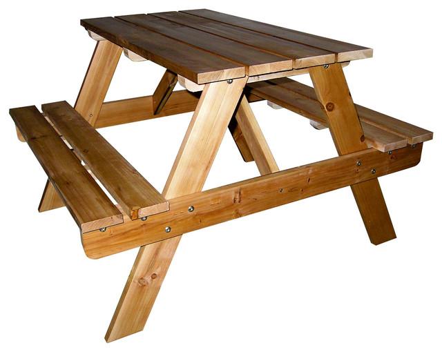 Peachy Kids Indoor Outdoor Picnic Table Short Links Chair Design For Home Short Linksinfo