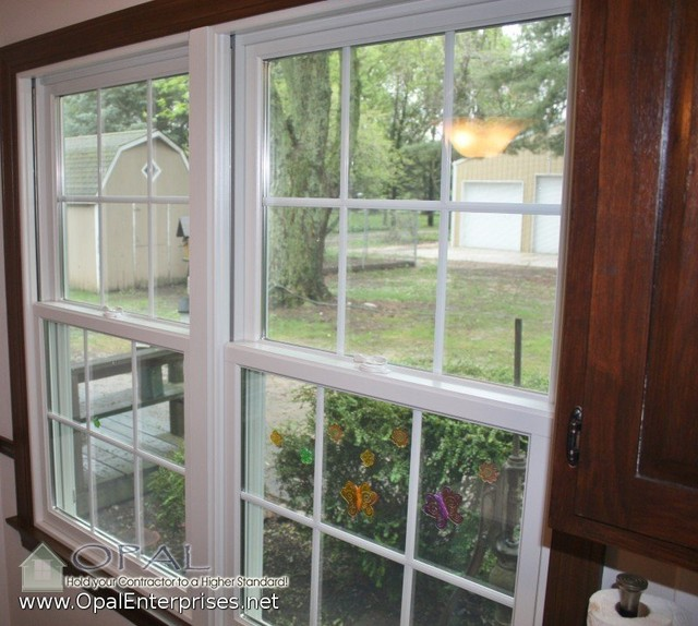 Andersen A Series 100 White Windows Wood Interior Trim In St Charles Traditional