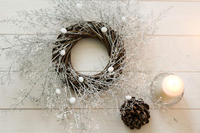 Decorazioni natalizie ghirlande dell avvento con frutti e - Ghirlande natalizie per scale ...