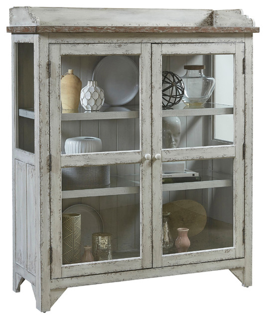 Nicole Accent Display Cabinet Farmhouse China Cabinets And Hutches