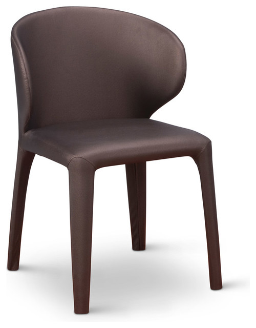 Enzo Dining Chair With Curved Back Brown  sc 1 st  Houzz & Enzo Dining Chair With Curved Back Brown - Contemporary - Dining ...