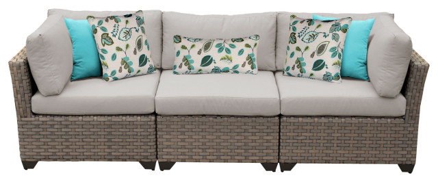 Monterey 3 Piece Outdoor Wicker Patio Furniture Set 03b