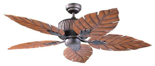 Fern Leaf 52 Indoor/outdoor Oil Rubbed Bronze Ceiling Fan.