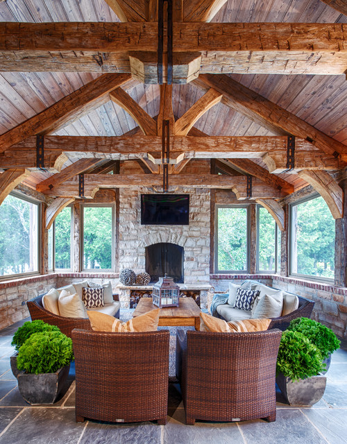 Rustic elegance rustic family room other by - Using stone in rustic gardens elegance and drama ...