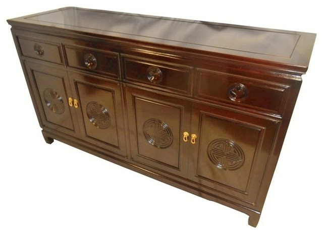 Solid Rosewood Long Life Carved Buffet