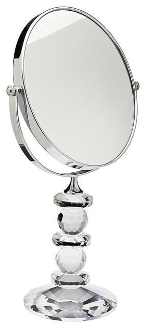 Godinger Faceted Crystal Mirror On Stnd.
