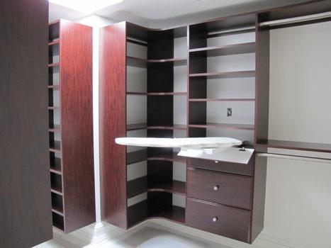 Superb Walk In Closet Has Fold Away Ironing Board Traditional Wardrobe