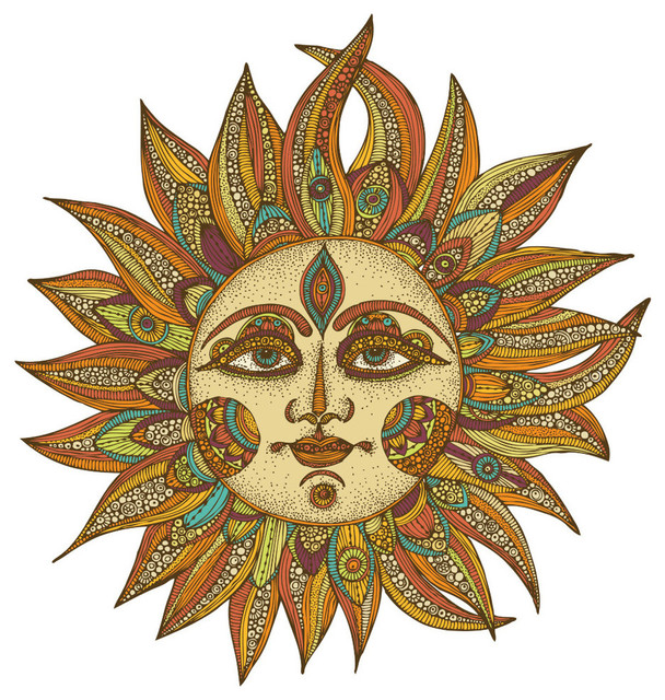 Celestial Sun Art Wall Sticker Decal, Helios by Valentina Harper ...