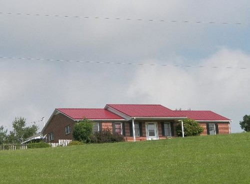 Change roofline ranch style house