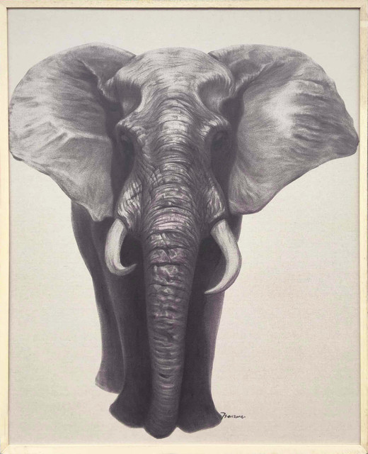 Wall Decor Painting Africa Elephant Ii