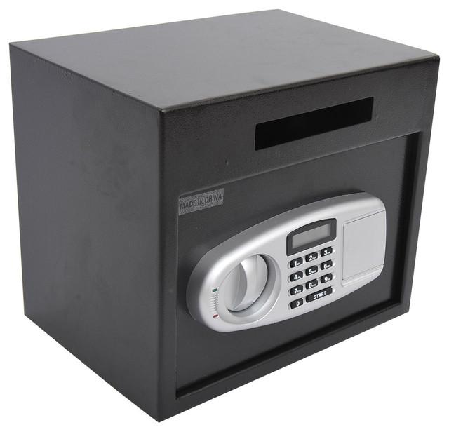 Homcom 14 X10 X12 Electronic Digital Home Security Safe Box Black Contemporary Safes By Aosom
