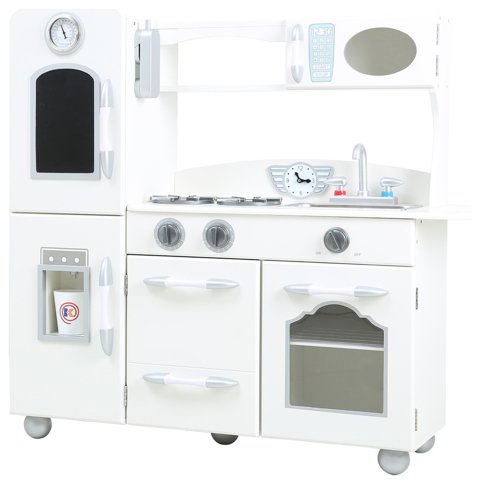 Eco-Friendly Play Kitchen Set, White