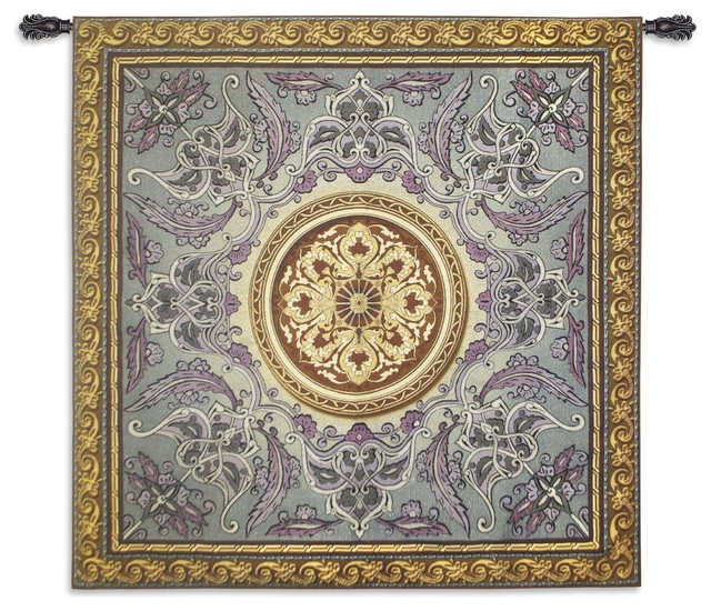"Usa Woven Tapestry Wall Hanging Violaceous Beauty, A, 52""x52""."