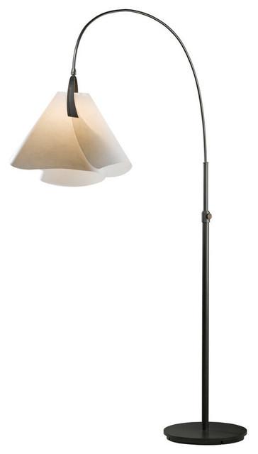 Mobius Arc Floor Lamp, Burnished Steel, Cork.