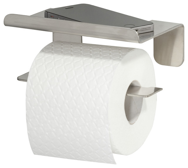 Toilet Roll Holder With Shelf Self