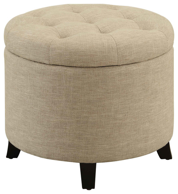 Prime Convenience Concepts Designs4Comfort Round Ottoman In Tan Short Links Chair Design For Home Short Linksinfo