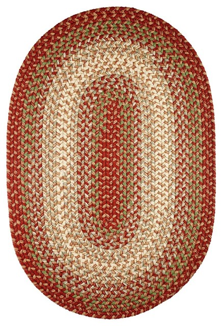 2 X4 Oval Small 2x4 Rug Warm Earth Red