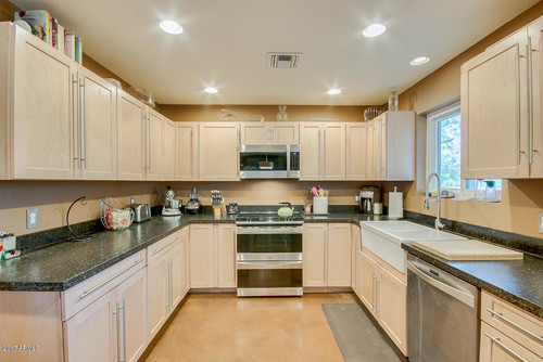 Light birch cabinets dark countertop paint color help for kitchen Help design kitchen colors