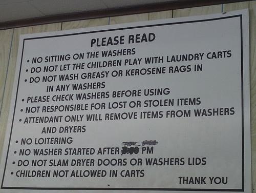 I Think Its Time We Post RULES In The Laundry Room