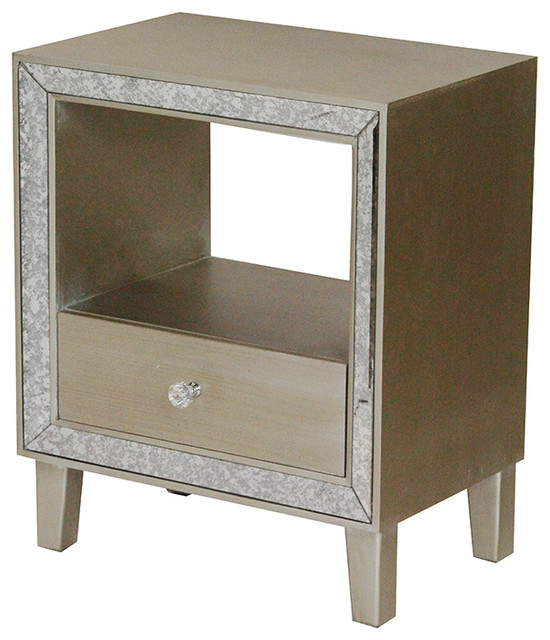 Paloma Mosaic Coffee Table: Bon Marche 1-Drawer Accent Cabinet With Antiqued Mirror