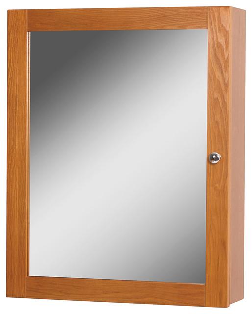 "Worthington 19"" Oak Medicine Cabinet."