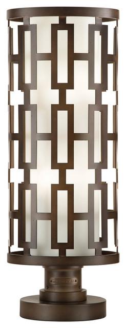 Fine Art Lamps 838880 River Oaks Dark Bronze Adjustable Post Mount.