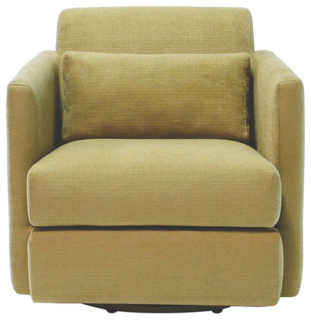 Veronica Swivel Chair, Fullerton Pepper by Focus One Home Inc.