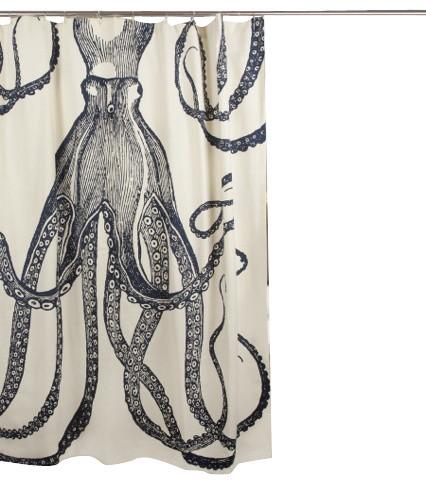 Nautical Octopus Shower Curtain