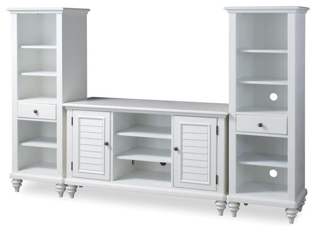 Bermuda 3-Piece Entertainment Center, Brushed White