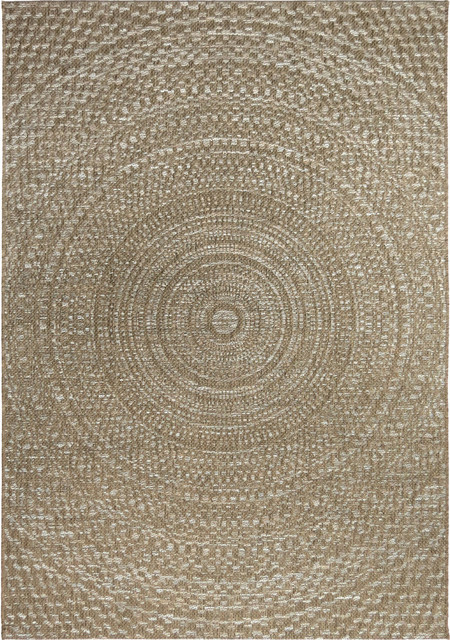 Orian Rugs - Orian Rugs Indoor/Outdoor Circles Cerulean Gray ...
