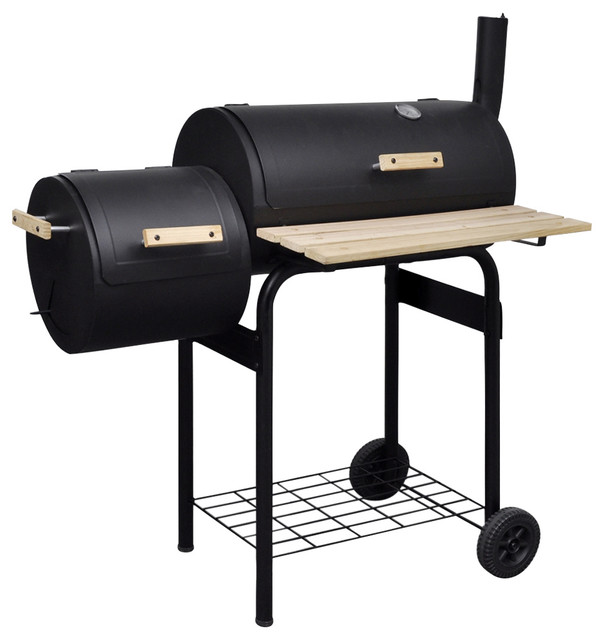Classic Charcoal Bbq Offset Smoker.