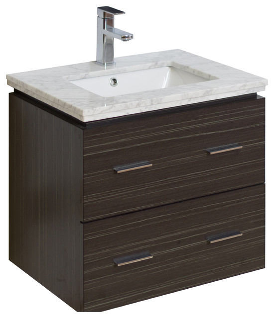 Modern wall mount vanity base only dawn grey 23 x17 for Wall mounted bathroom vanity cabinet only