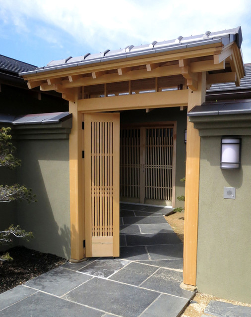 front door gate. Japanese-style Entrance Gate And Front Door Asian