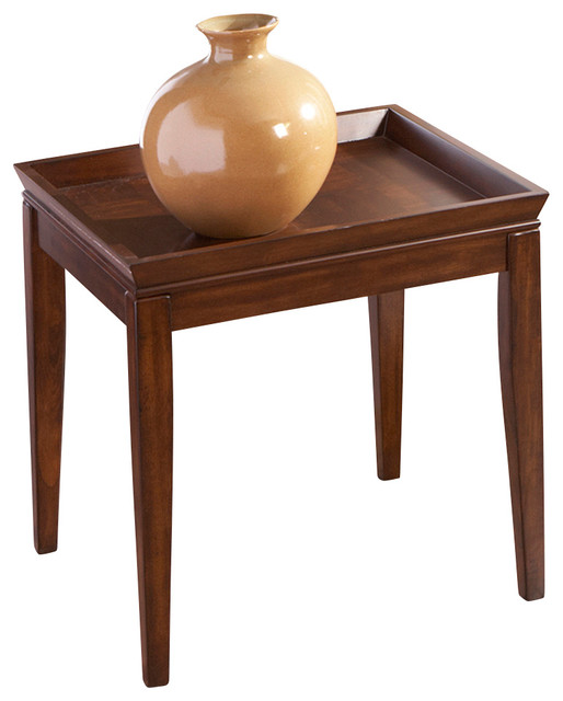 Steve Silver Clemson Square End Table In Cherry Side Tables And End Tables By Beyond Stores